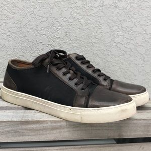 Kenneth Cole Reaction Mens Brown Leather Sneakers